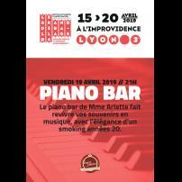 Improvisation Théâtre Improvisation Lyon Théâtre Improvisation Bordeaux Piano Bar  à l'Improvidence